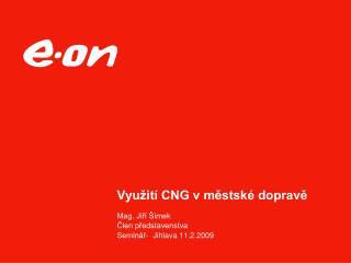 Využití CNG vměstské dopravě