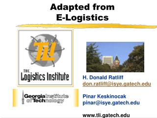 Adapted from  E-Logistics