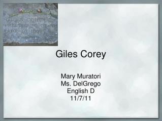 Giles Corey