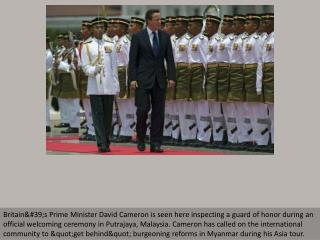 British PM to make historical Myanmar visit
