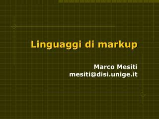 Linguaggi di markup