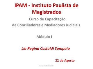 IPAM - Instituto Paulista de Magistrados
