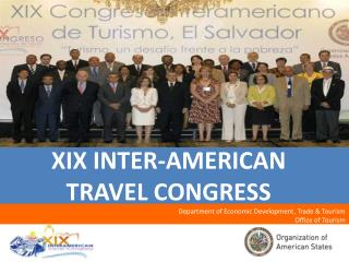 XIX INTER-AMERICAN TRAVEL CONGRESS