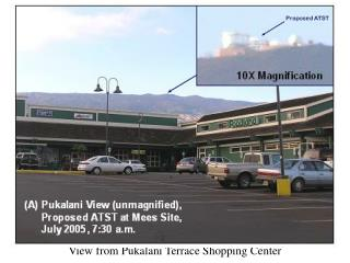 View from Pukalani Terrace Shopping Center