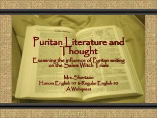 Puritan Literature and Thought