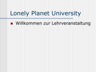 Lonely Planet University