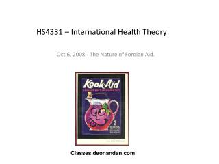 HS4331 – International Health Theory