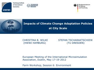 Impacts of Climate Change Adaptation Policies  at City Scale