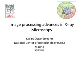 Image processing advances in X-ray Microscopy