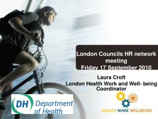 Laura Croft London Health Work and Well- being Coordinator