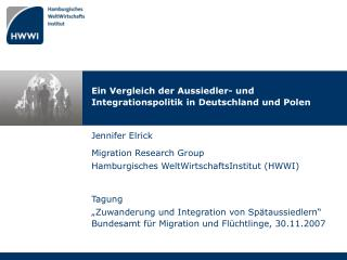 Ein Vergleich der Aussiedler- und Integrationspolitik in Deutschland und Polen