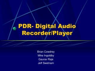 ital Audio Recorder/Player