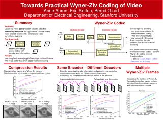Towards Practical Wyner-Ziv Coding of Video