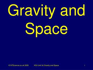 Gravity and Space