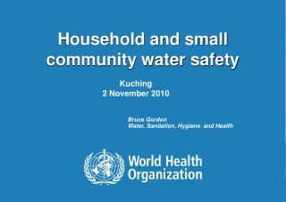 Household and small community water safety