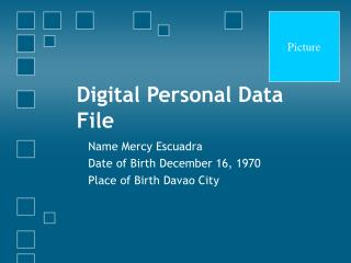 Digital Personal Data File