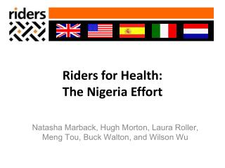 Riders for Health: The Nigeria Effort