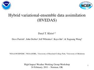 Hybrid variational-ensemble data assimilation (HVEDAS)