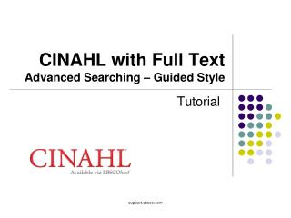 CINAHL with Full Text Advanced Searching – Guided Style