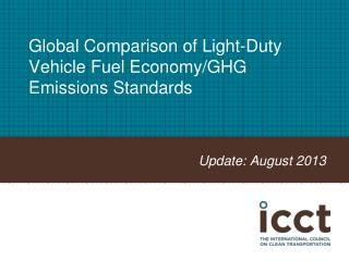 Global Comparison of Light-Duty Vehicle Fuel Economy/GHG Emissions Standards
