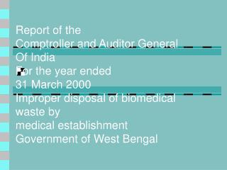 Improper disposal of biomedical waste by medical establishments
