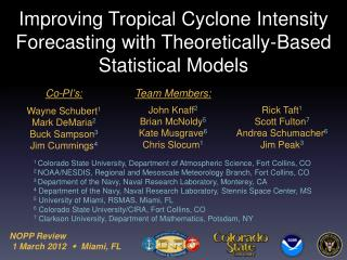 Improving Tropical Cyclone Intensity Forecasting with Theoretically-Based Statistical Models