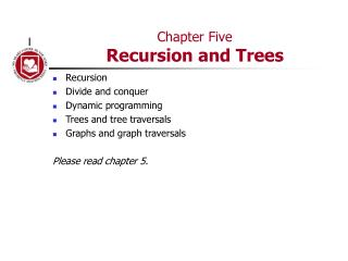 Chapter Five Recursion and Trees