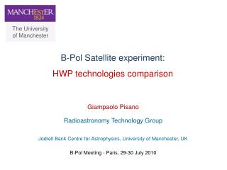 B-Pol Satellite experiment:  HWP technologies comparison