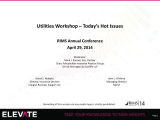 Utilities Workshop – Today's Hot Issues