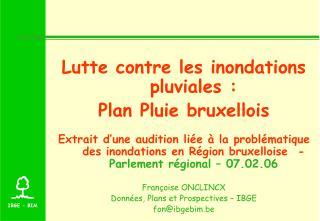 Lutte contre les inondations pluviales :  Plan Pluie bruxellois