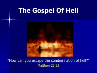 The Gospel Of Hell