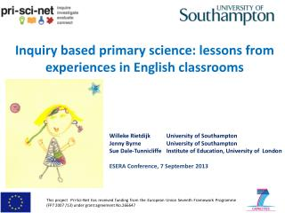 Inquiry based primary science: lessons from experiences in English classrooms