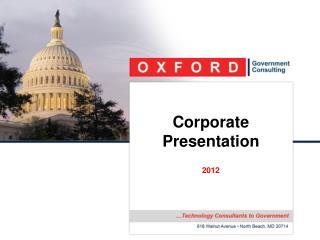 Corporate Presentation   2011