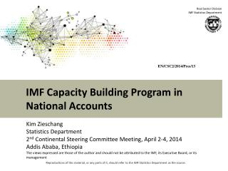 IMF Capacity Building Program in National Accounts