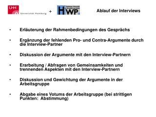 Ablauf der Interviews