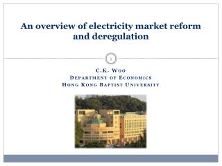 An overview of electricity market reform and deregulation