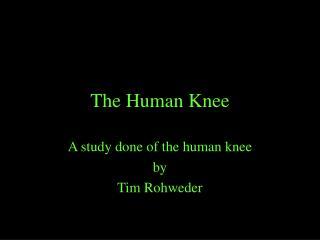 The Human Knee