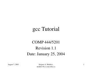 Gcc Tutorial