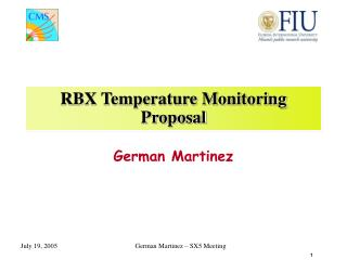 RBX Temperature Monitoring Proposal