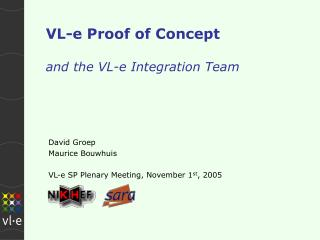 VL-e Proof of Concept and the VL-e Integration Team