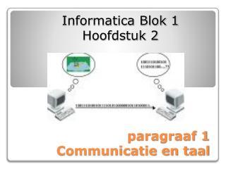 paragraaf 1 Communicatie en taal