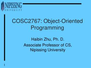 COSC2767: Object-Oriented Programming