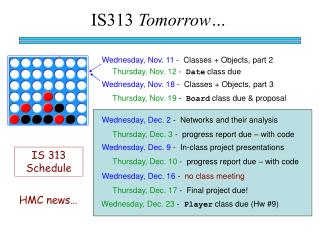 IS313  Tomorrow…
