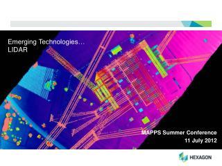 Emerging Technologies� LIDAR