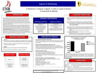 Impact of Mentoring