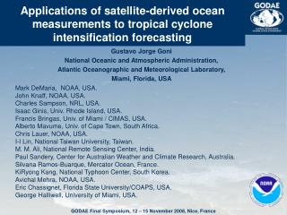 Gustavo Jorge Goni National Oceanic and Atmospheric Administration,