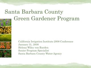 Santa Barbara County   Green Gardener Program