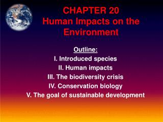 CHAPTER 20  Human Impacts on the Environment