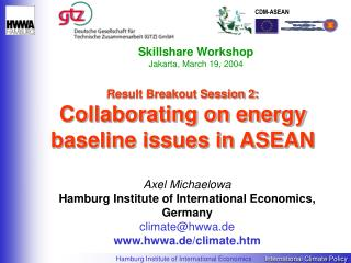 Result Breakout Session 2: Collaborating on energy baseline issues in ASEAN