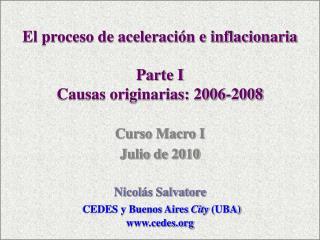 Tasas de Inflación Anual Buenos Aires  City